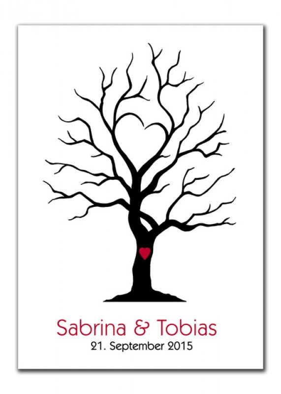 wedding tree sabrina und tobias rot gr n lila wedding tree karten. Black Bedroom Furniture Sets. Home Design Ideas