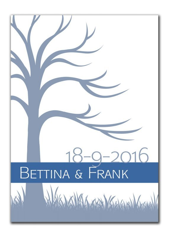 Gaestebaum Wedding Tree Konfirmation Hochzeit Bettina Frank blau