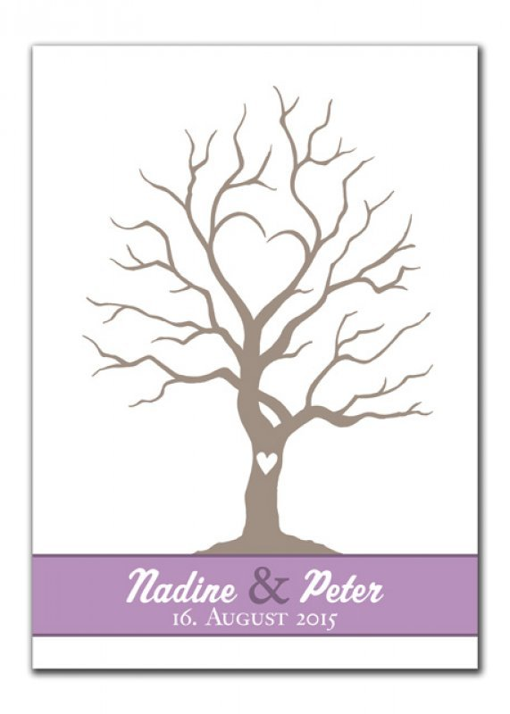 Wedding tree nadine und peter rot gr n lila wedding tree - Hochzeitsbaum leinwand ...
