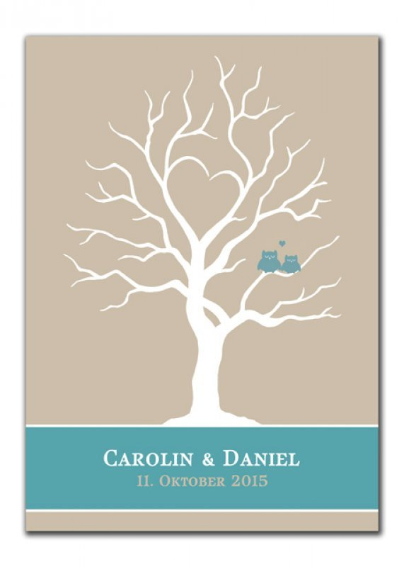 Wedding Tree Carolin Daniel blau